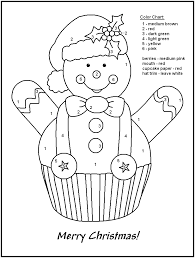 Christmas Printable Color By Number Pages