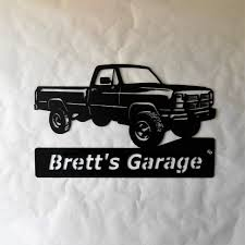 100 1993 Dodge Truck Personalized Man Cave Garage Sign Satin Black Etsy