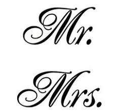 Mr Andamp Mrs Fonts Clipart