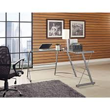 Small Glass And Metal Computer Desk by Altra Furniture Gray Desk 9393096 The Home Depot
