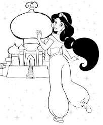 Beautiful Disney Princess Jasmine Coloring Pages With And Printable