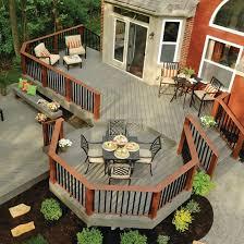 Patio And Deck Combo Ideas by Best 25 Wood Deck Designs Ideas On Pinterest Decks Patio Deck