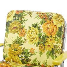Floral Upholstered Outdoor Folding Chair