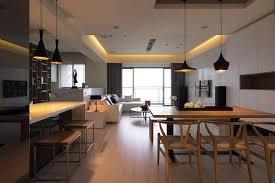 cuisine ouverte sur salle a manger salon ouvert sur cuisine ouverte salle manger blanc noir bois