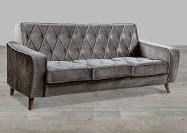 Tufted Velvet Sofa Bed by Petite Grey Velvet Sofa Button Tufted
