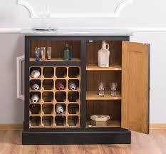 casa padrino landhausstil weinschrank schwarz naturfarben silber 90 x 41 x h 90 cm weinschrank mit tür und verzinkter platte