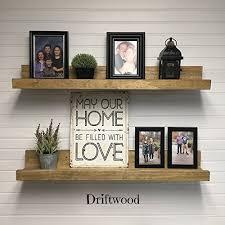 Picture Ledge Shelf12 60quot Long Rustic Wooden Wall Shelf