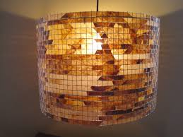 Image Of Rustic Lamp Shades With Agate Stones In Them