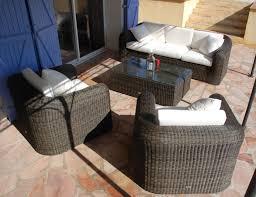 canap de jardin en r sine mikonos le salon de jardin en résine tressée à prix imbattable sur