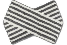 rhomtuft badteppich puzzle weiß kiesel