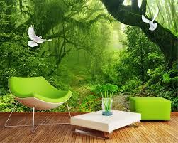 beibehang frische grüne wald großen baum fotos 3d tapete wohnzimmer schlafzimmer dekoration tapete für wände 3 d wandmalereien tapeten