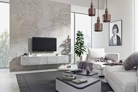 wuun tv board hängend 8 größen 5 farben 100cm matt weiß