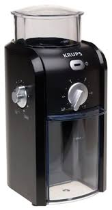 KRUPS GVX1 14 Coffee Grinder With Grid Size And Cup Selection Stainless Steel Conical