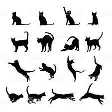 cat silhouette cat silhouette stock vector 476050882 istock