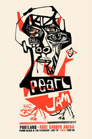 Pearl Jam at the Rose Garden Portland Poster 1998 in Rock Music
