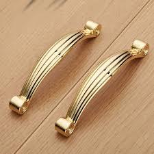 96mm schrank griffe küche badezimmerschrank schrank griffe zink legierung solide gold möbel griffe knöpfe schublade kommode pull