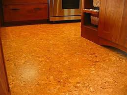 kitchen with wooden cabinets and cork flooring pros cons of floor