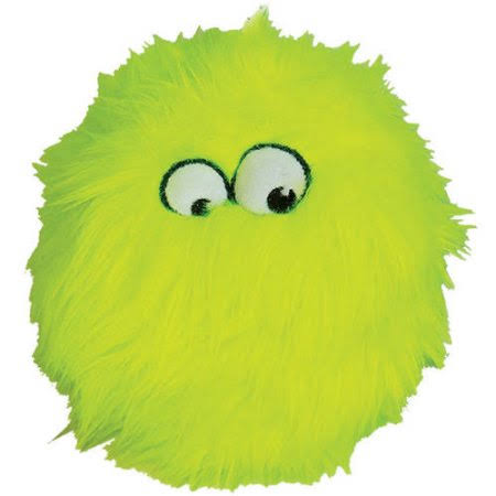 Quaker Pet Group Go Dog Fuzzy Wuzzy Furball Dog Toy - Lime
