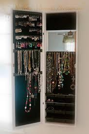 Jewelry Armoire Over The Door Mirror Cabinet Hsn