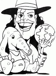 Michael Jackson Smooth Criminal Coloring Pages