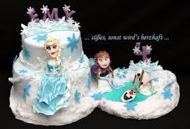 süßes sonst wird s herzhaft frozen cake die eiskönigin