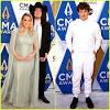 Gabby Barrett Cradles Baby Bump at CMAs 2020 With Hubby Cade ...