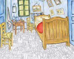 schlafzimmer in arles 1888 durch vincent gogh stock