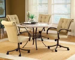 Raymour And Flanigan Dining Room Chairs by Dining Room Chairs With Casters Leather Wooden Wheels Table Sets