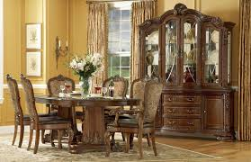 Modern Dining Room Sets With China Cabinet by Old World Double Pedestal Extendable Dining Room Set From Art