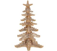 Qvc Christmas Tree Recall by Set Of 2 Glittered Starfish Trees By Valerie Page 1 U2014 Qvc Com