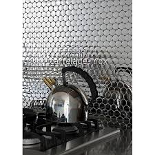 mosaikfliesen aus edelstahl mit spiegeleffekt für küchen und badezimmerwände sora