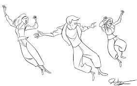 Dance Coloring Pages Jazz Free On Masivy Sheets