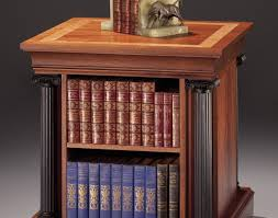 ShelfGlamorous End Table With Revolving Bookcase Finewoodworking 05truslow 100401nhfma Oedel Me Rotating Dramatic Desktop