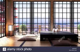 japanisches wohnzimmer im wohnzimmer ein minimalistisches