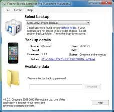 Encrypted iTunes backup support New iPhone Backup Extractor