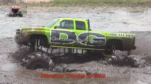 100 Monster Trucks Mud Bogging Dodge Diesel Goes Deep In YouTube