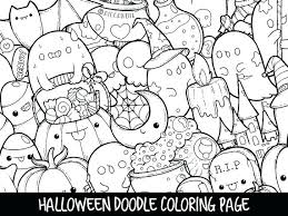 Kawaii Animal Coloring Pages Cute Printable Awesome Doodle Page