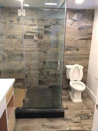 wood look tile bathroom homefield