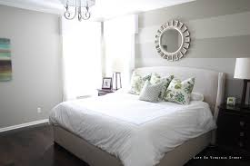 Master Bedroom Paint Ideas Bruce39s Angels With Striped Wall Combined Grey Bed White Sheet Throughout Office