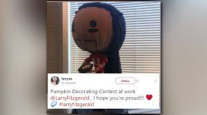 Pumpkin Head 2017 by Fan U0027s Pumpkin Decoration Catches Larry Fitzgerald U0027s Eye 12news Com