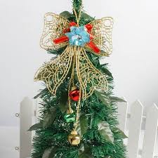 Christmas Bow Tree Toppers Guardian Decorations Kids New Year Gifts Outdoor