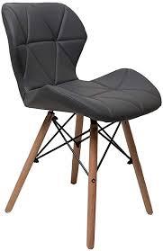 zolta modern stuhl weiß wohnzimmer eco leder stuhl 86 x 50 x 45 cm schwarz 1