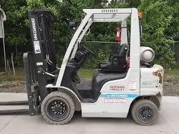 100 National Lift Truck Service 2015 LP Gas Unicarriers PF50 Pneumatic Tire 4 Wheel Sit Down