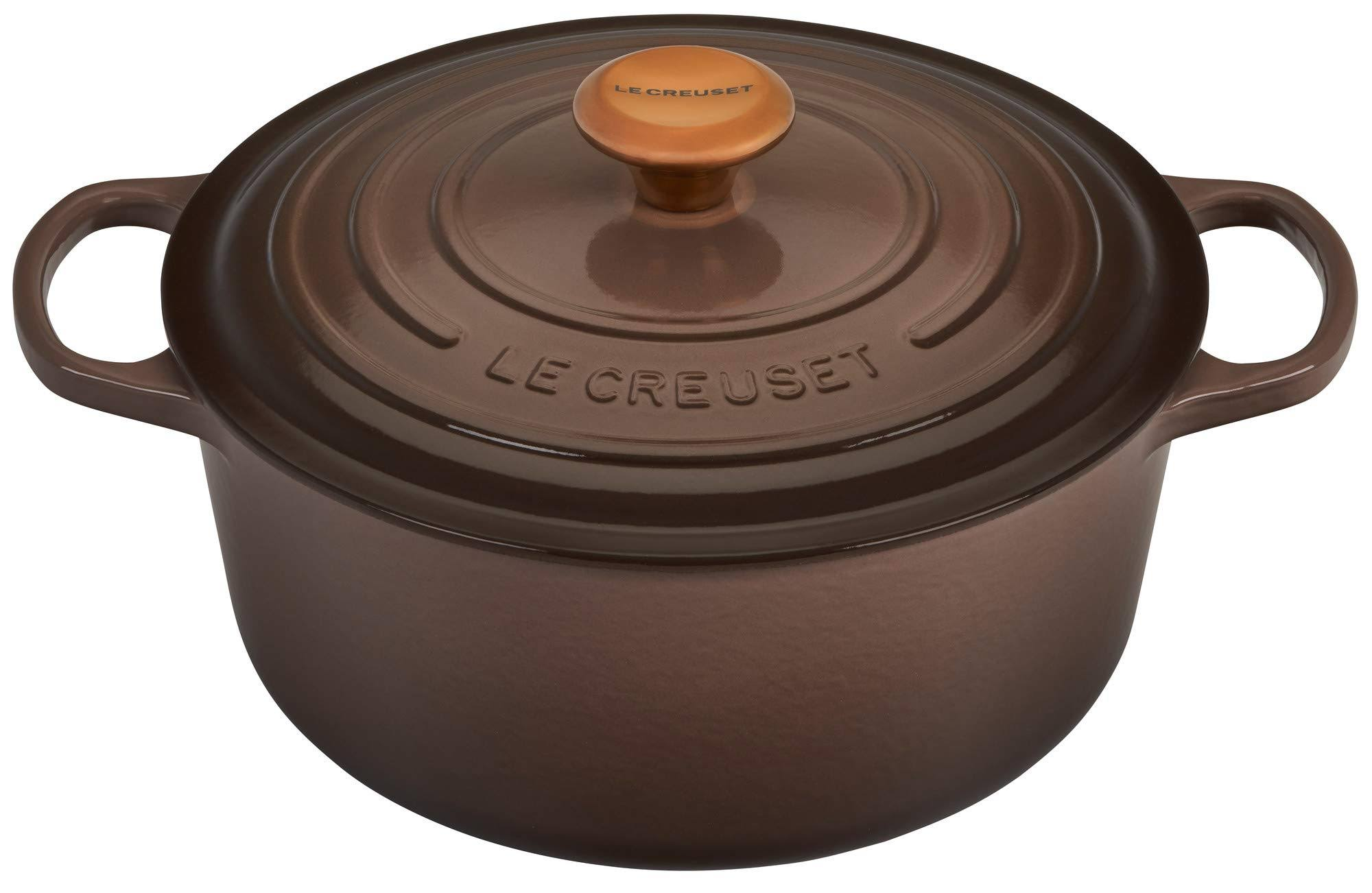 Le Creuset Signature Cast Iron 5.5-Quart Truffle Round Dutch Oven