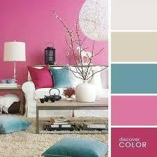 farbkombination creme pink und blau wohnzimmer farbschema