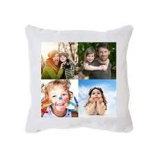 coussin avec photo personnalise coussin blanc personnalisé avec pele mele photos