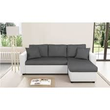 canap d angle convertible et reversible canapé d angle convertible et réversible blanc gris avec