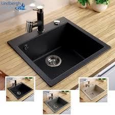 lindbergh granit spüle col siphon einbauspüle küchenspüle spülbecken