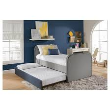 Jesse Twin Bed With Trundle Twin Gray Dorel Home Products