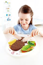 Hape Kitchen Set India by Hape E3141 Hearty Home Cooked Meal Wooden Pretend Play Food Set